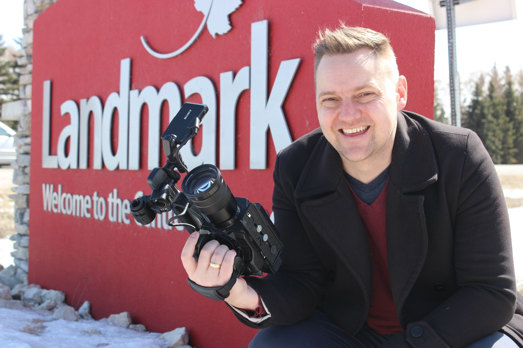 Filmmaker Paul Plett, seen here last April in his hometown of Landmark, announced plans this week for a new documentary about his Mennonite heritage that will take him to Ukraine and the Netherlands.