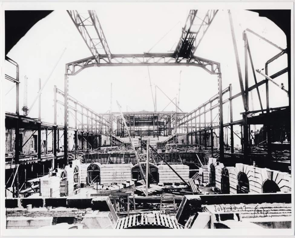 Construction of the new Legislative Building on July 30, 1917.
