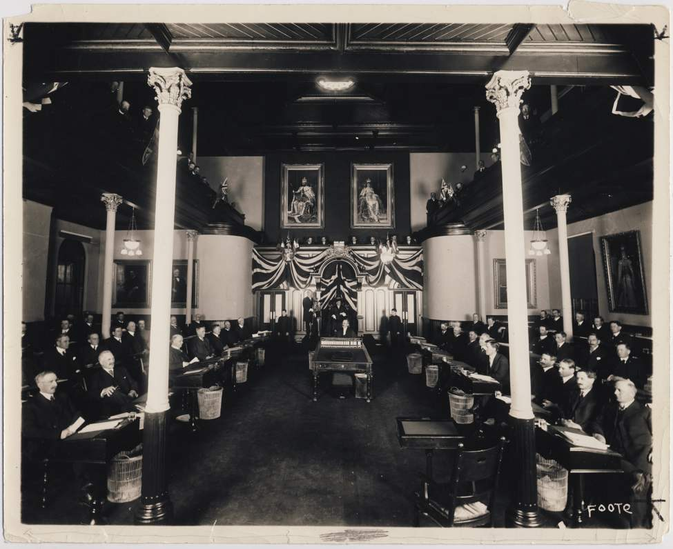 The interior of the old Manitoba Legislative Building which was on the grounds of the current building.  Winnipeg Free Press Archives