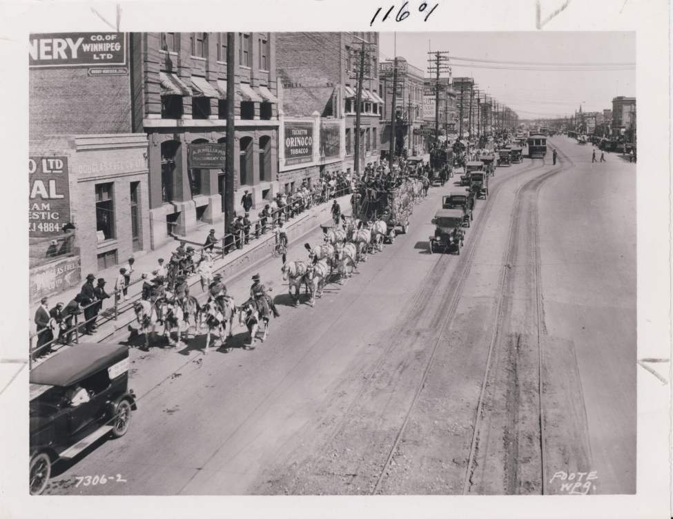A Circus parade on June 20, 1921.