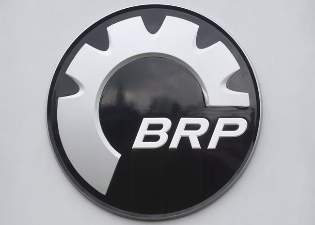 A shareholder advisory agency is urging Bombardier Inc. shareholders to vote against the company's approach to compensation over the severance package that could reach $17.5 million for former CEO Alain Bellemare. A BRP logo is shown at the research and innovation plant in Valcourt, Que., Nov. 9, 2012. THE CANADIAN PRESS/Graham Hughes