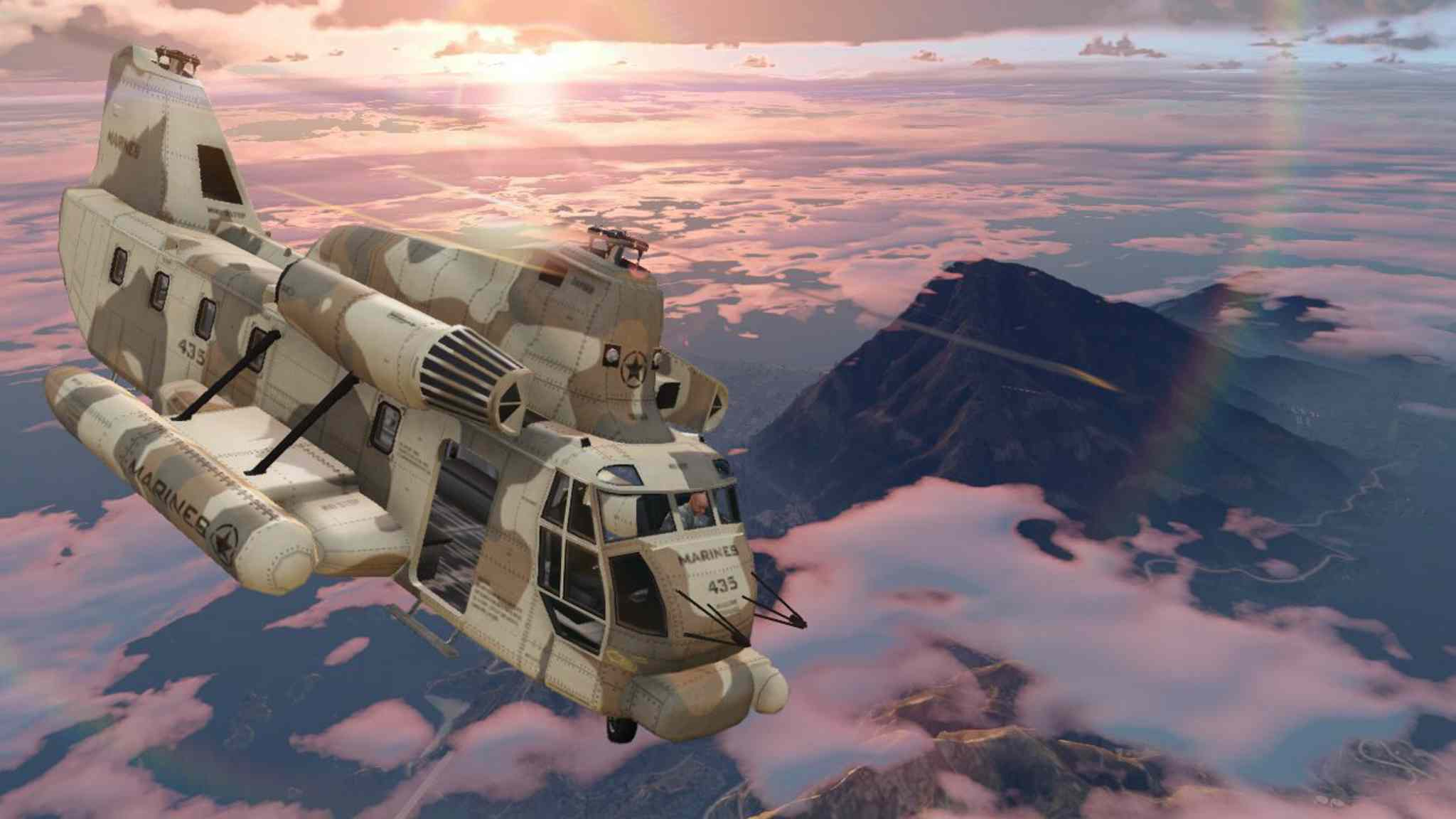 A screen shot from the wildly popular Grand Theft Auto V video game.