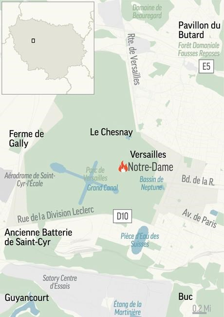 Locator Map for Notre Dame Fire.;