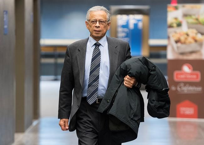 Former SNC-Lavalin vice-president Sami Bebawi is shown at the courthouse in Montreal, Thursday, December 19, 2019, for pre-sentencing arguments. Bebawi was found guilty recently on charges including fraud, corruption of foreign officials and laundering proceeds of crime. THE CANADIAN PRESS/Graham Hughes
