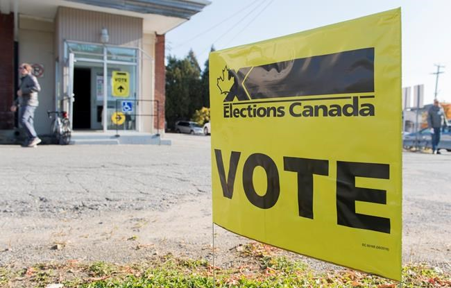 A man leaves a polling station after casting his ballot on federal election day in Shawinigan, Que., Monday, Oct. 21, 2019. THE CANADIAN PRESS/Graham Hughes