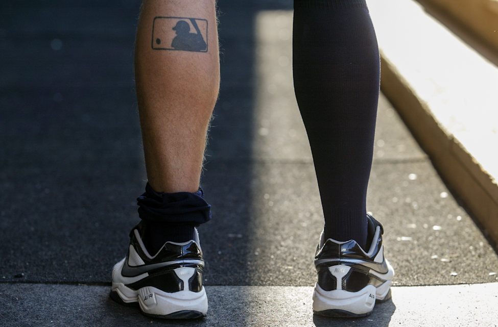 Pitcher Todd Privett got a Major League Baseball tattoo when he was 18-years-old.