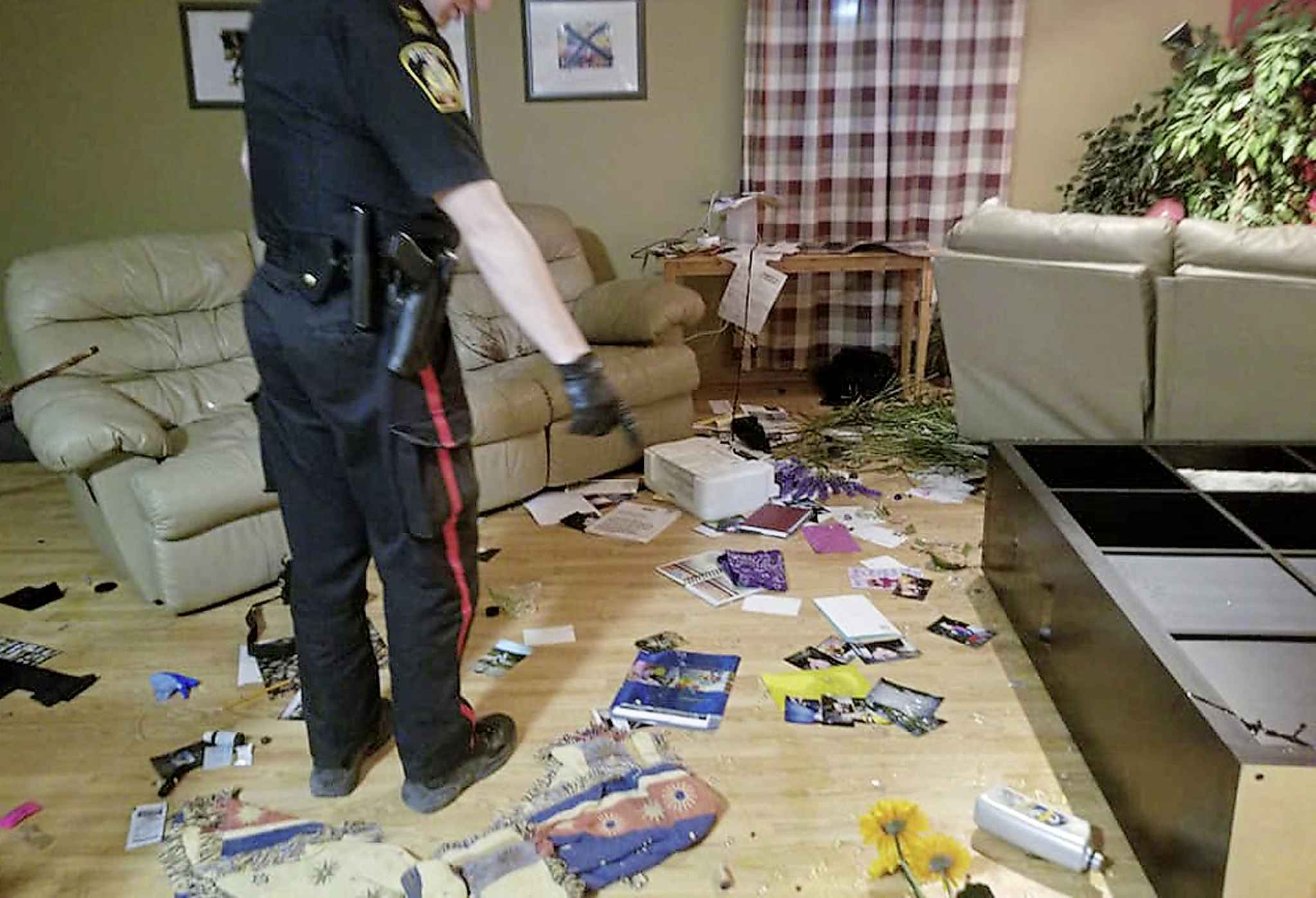 Officers responded to a call about the break-in at the home Monday evening. (Facebook photo)