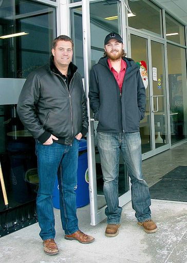 Jan. 21, 2015 - (Left) La Salle Community Centre president James Pollard and LSCU Complex recreation director Cody Benson are pleased with the first year of the centre's operations. (ANDREA GEARY/CANSTAR COMMUNITY NEWS)