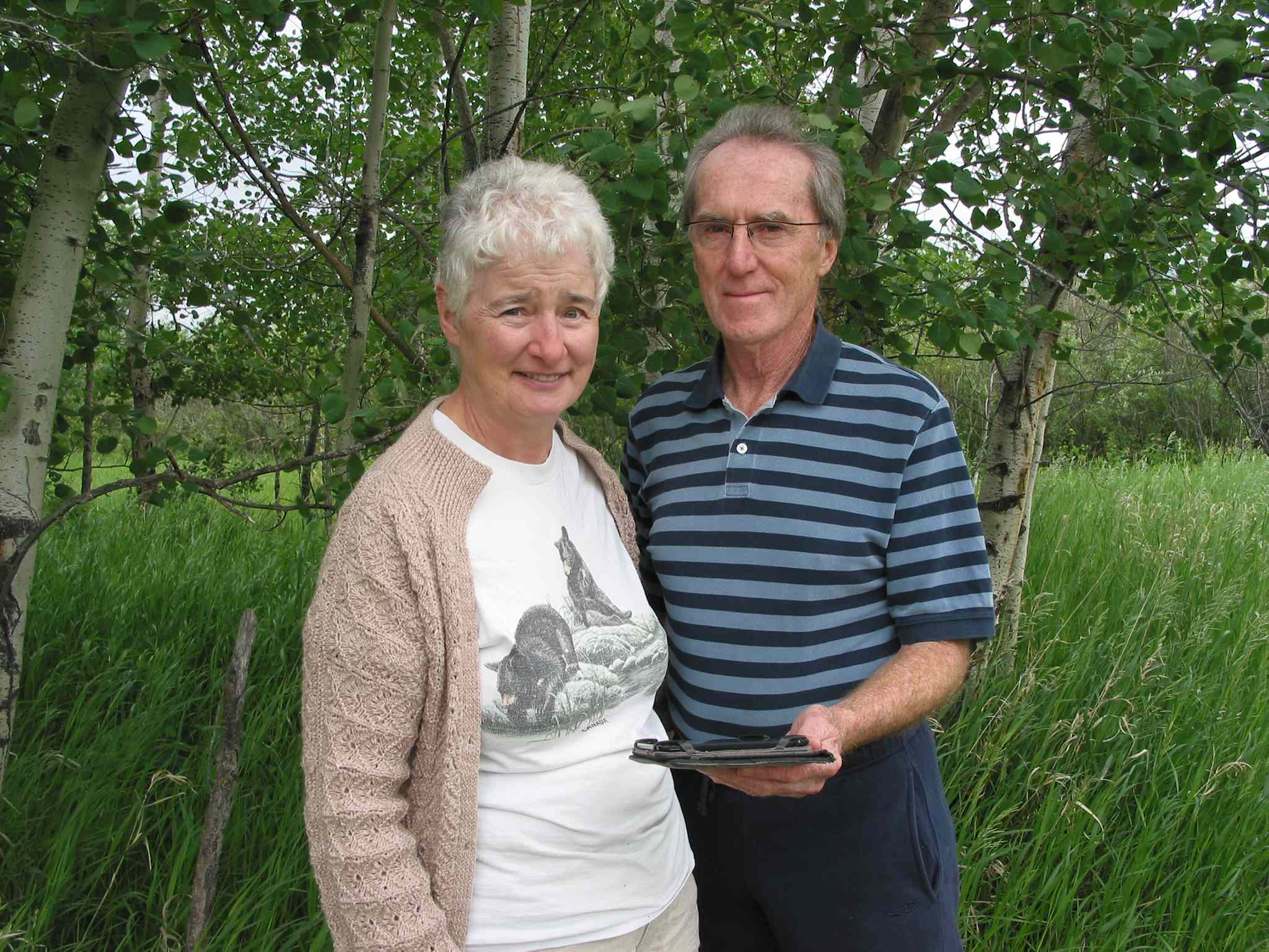 Evelyn and Robert Burch, of Headingley, enjoy the challenge of geocaching in Canada and abroad.