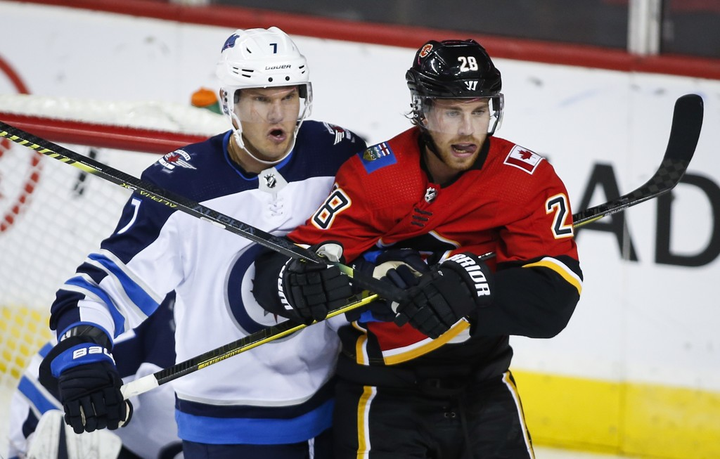 The Jets would play the Calgary Flames if the NHL resumes the season. (Jeff McIntosh / The Canadian Press files)