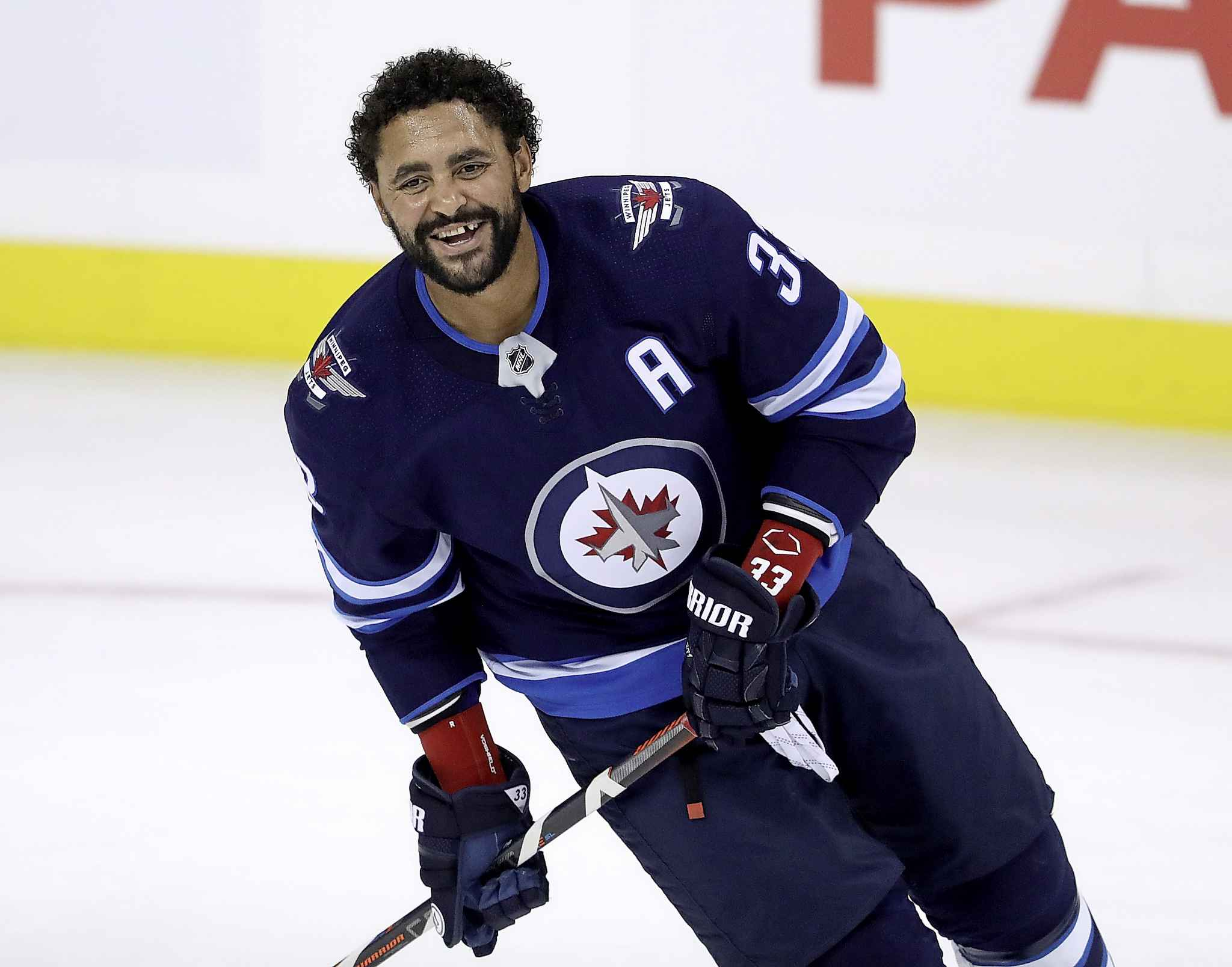 Dustin Byfuglien has started a post-surgery rehabilitation program in consultation with the Jets that brings him closer to a potential on-ice return with the team later this season, the Free Press has learned. (Trevor Hagan / Free Press files)