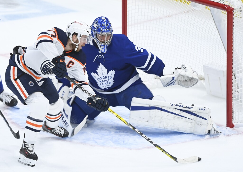With some of the biggest superstars in the league, from Edmonton's Connor McDavid (above) to Toronto's Auston Matthews, there are going to be a lot of goals scored in Canada. (Nathan Denette / The Canadian Press files)