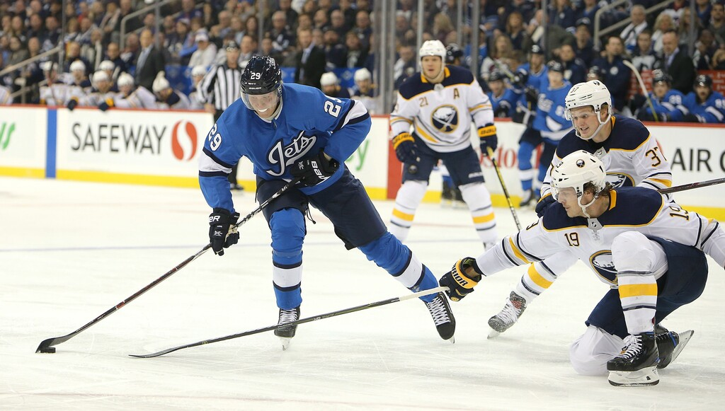 Patrik Laine is at home in Finland, but might be able to skip quarantine guidelines if the NHL convinces the federal government players should be exempt. (Jason Halstead / The Canadian Press files)