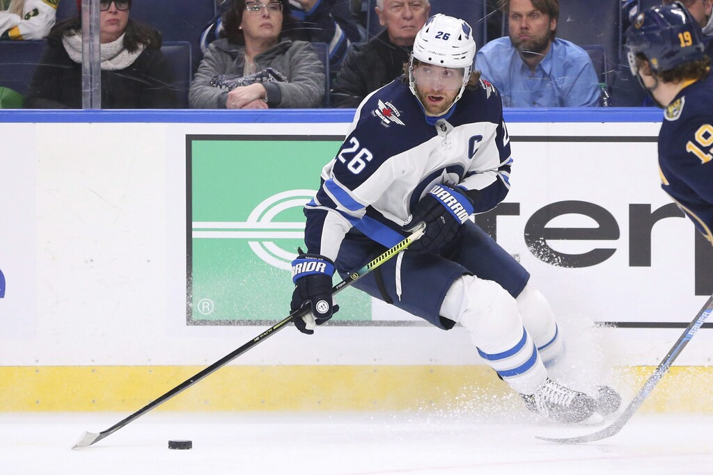 With a July 10 start date to training camps, that gives players such as Blake Wheeler until June 26 to get to Winnipeg to begin two weeks of quarantine. (Jeffrey T. Barnes / The Canadian Press files)