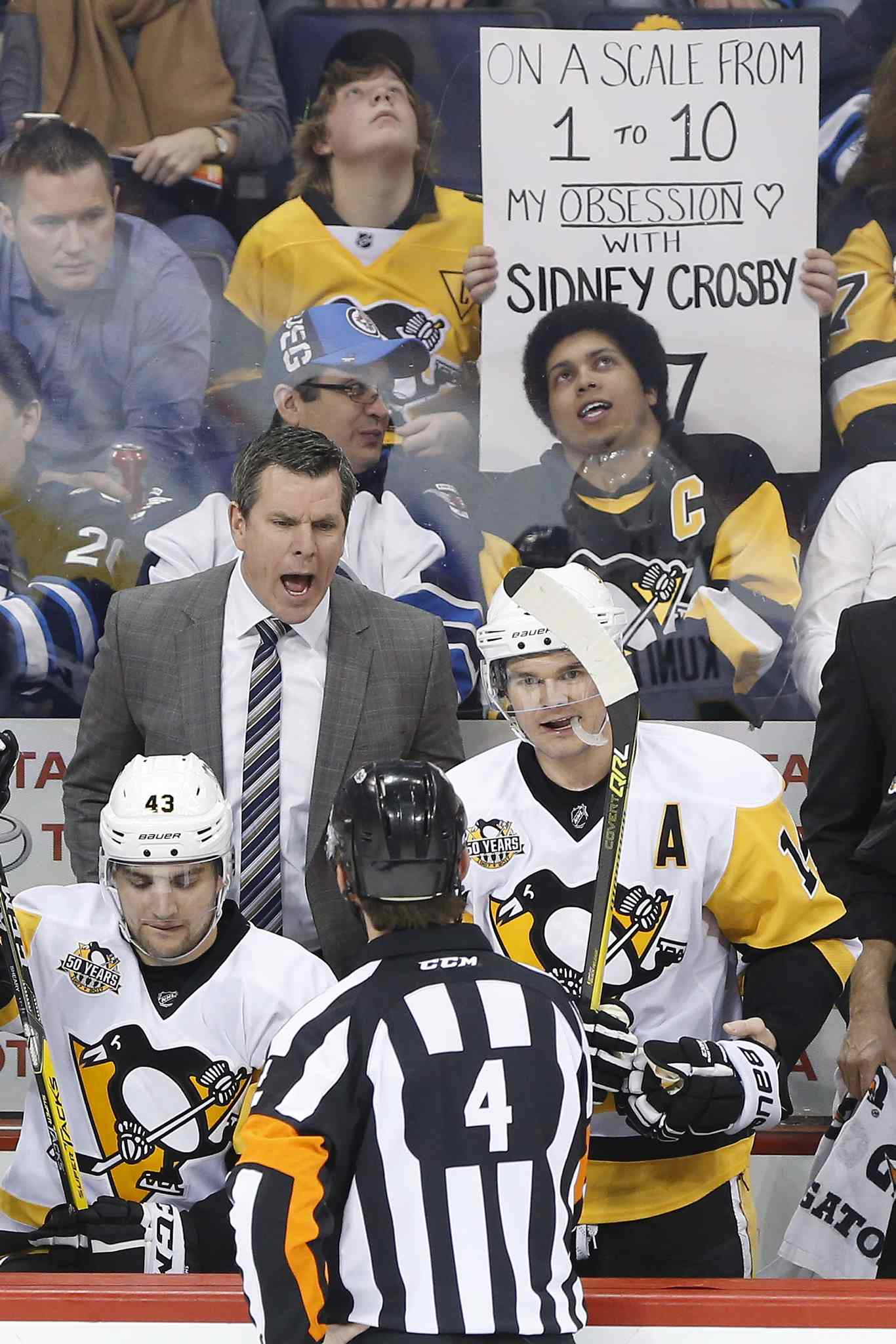 Pens coach Mike Sullivan called up Tom Sestito for one purpose on Wednesday.