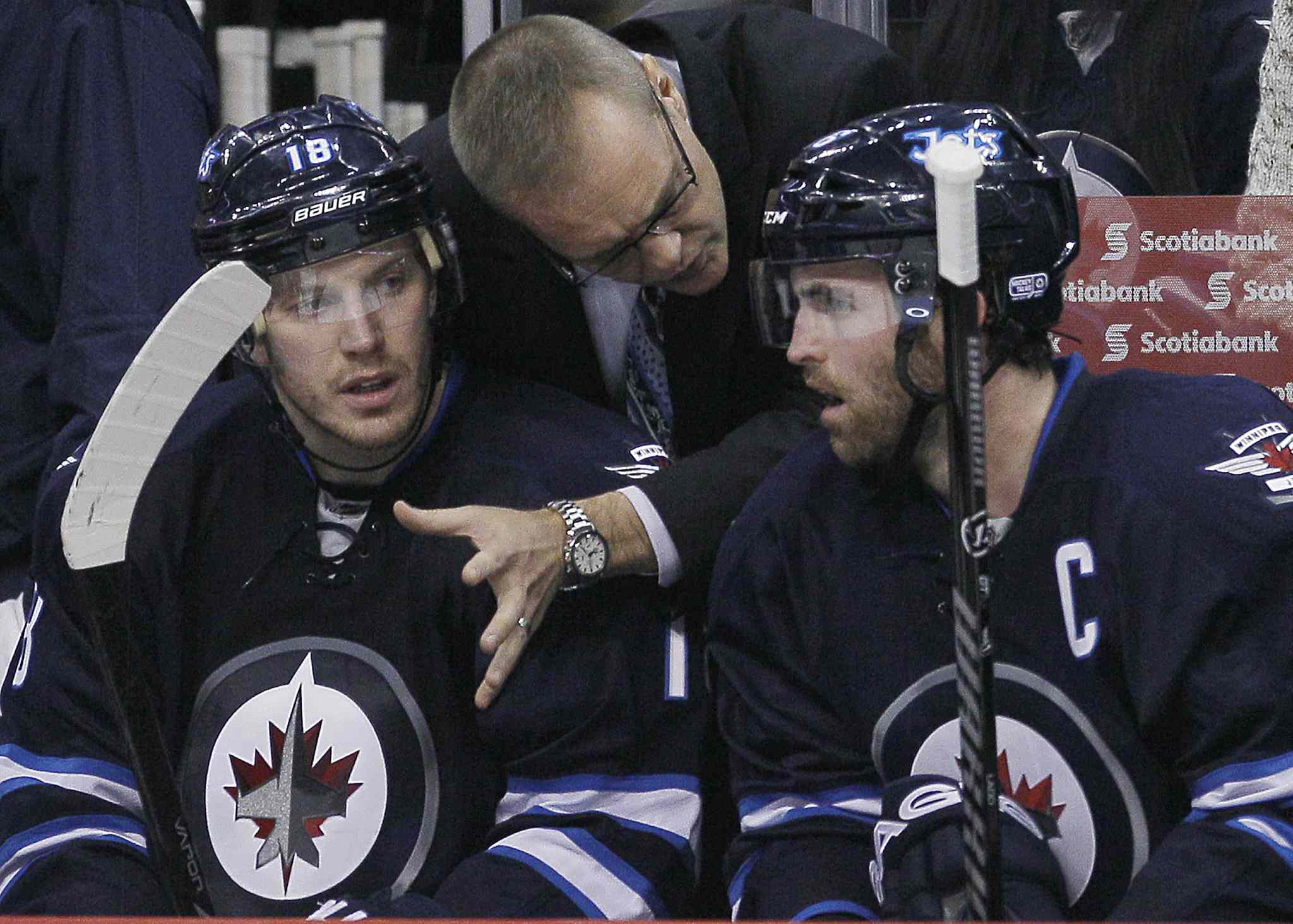 Winnipeg Jets head coach Paul Maurice started teaching on the bench in his first game Jan. 13 against Phoenix.