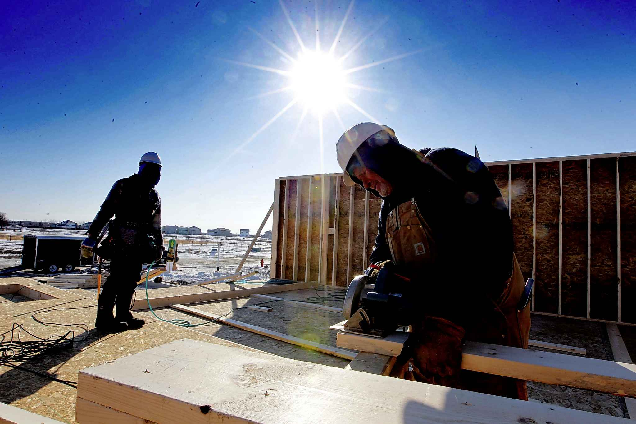 New home construction in Sage Creek. The City of Winnipeg imposed the impact fee on new home construction offset costs associated with infrastructure services required in new housing developments, including recreational and leisure facilities and transit.
