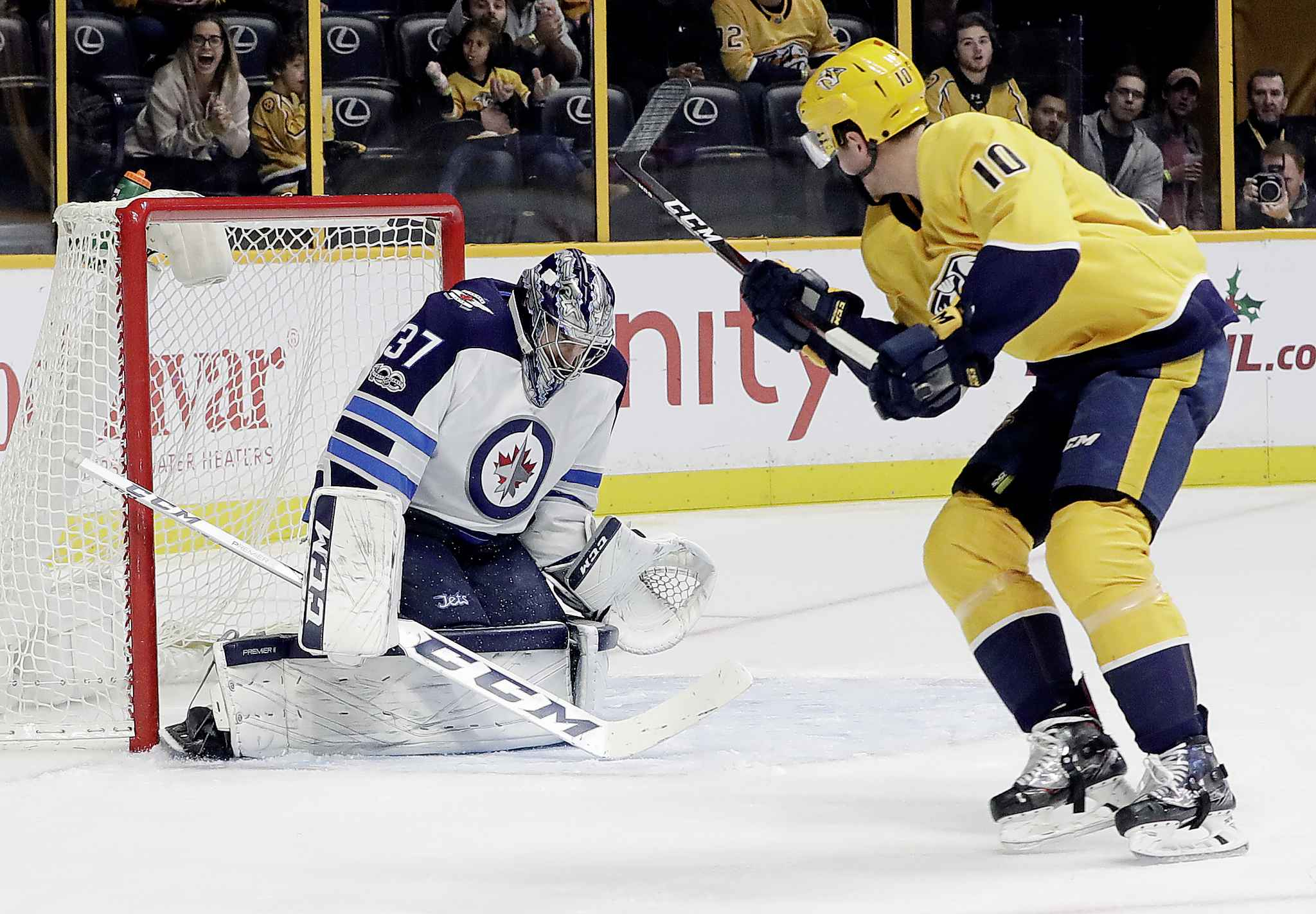 Winnipeg Jets goalie Connor Hellebuyck posted back-to-back shutouts to close out his team's first round series with the Wild.