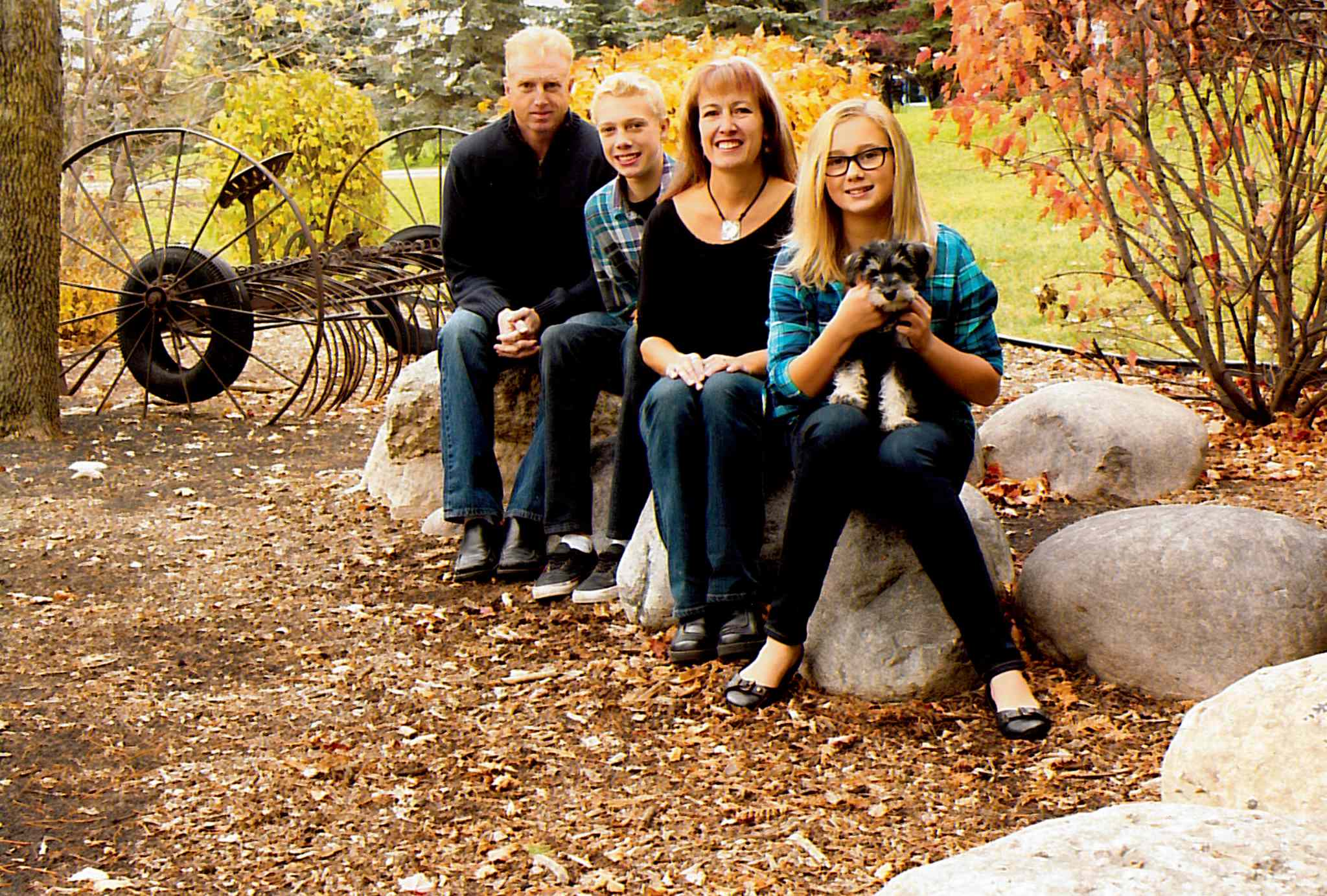 The Little family - Brad, Riley, Karen, and Kayla - is shown in a photo taken in September.
