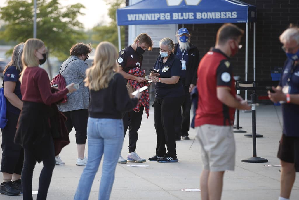 Next month, when football fans attend the Winnipeg Blue Bombers home opener against the Hamilton Tiger-Cats, they will have to give proof of their vaccination before they enter the stadium.