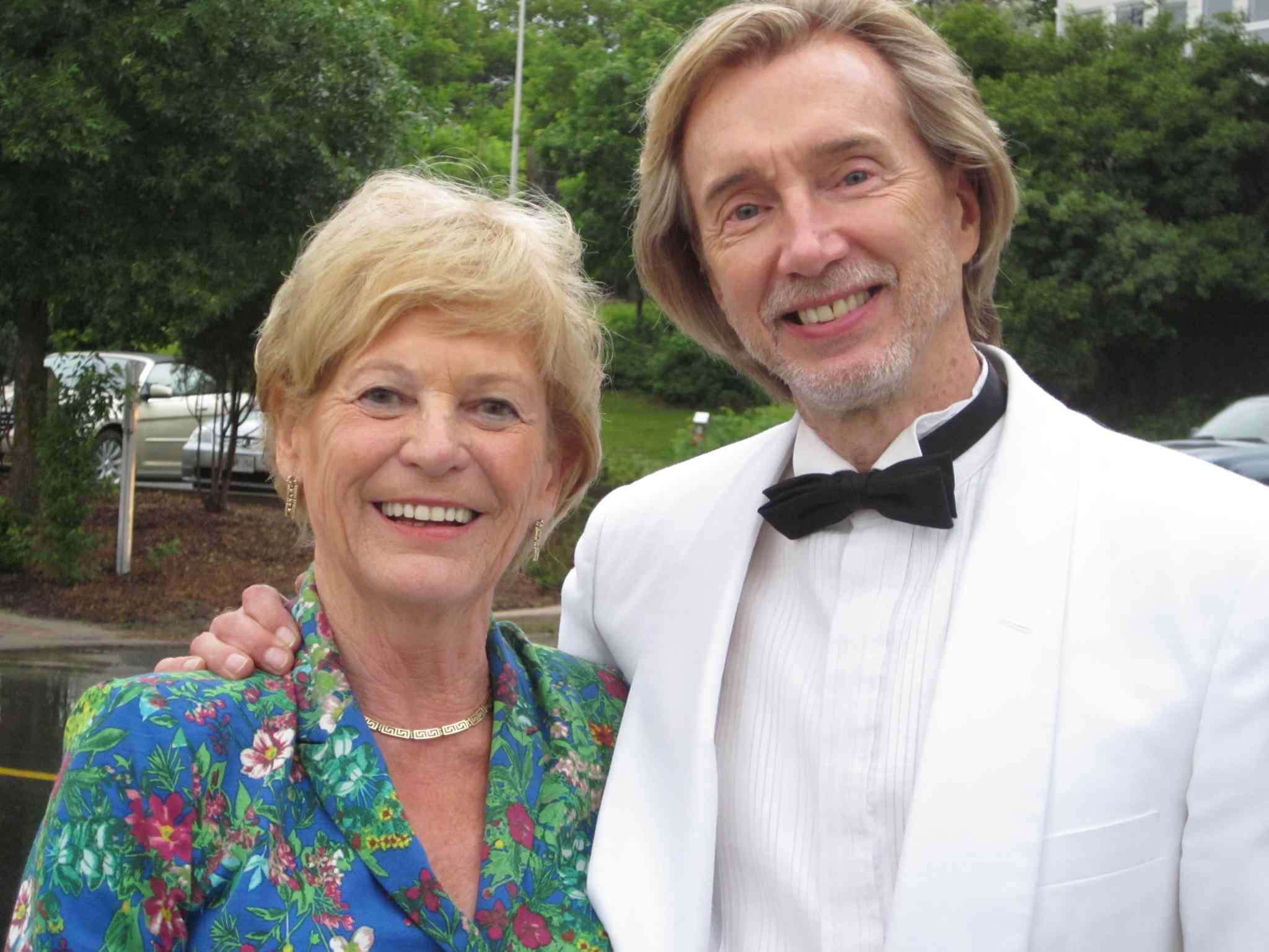 Els Kavanagh and her 'adopted musician son,' principal flutist Jan Kocman, who is beginning his 40th season with the WSO and performed at Carnegie Hall with the orchestra in 1979.