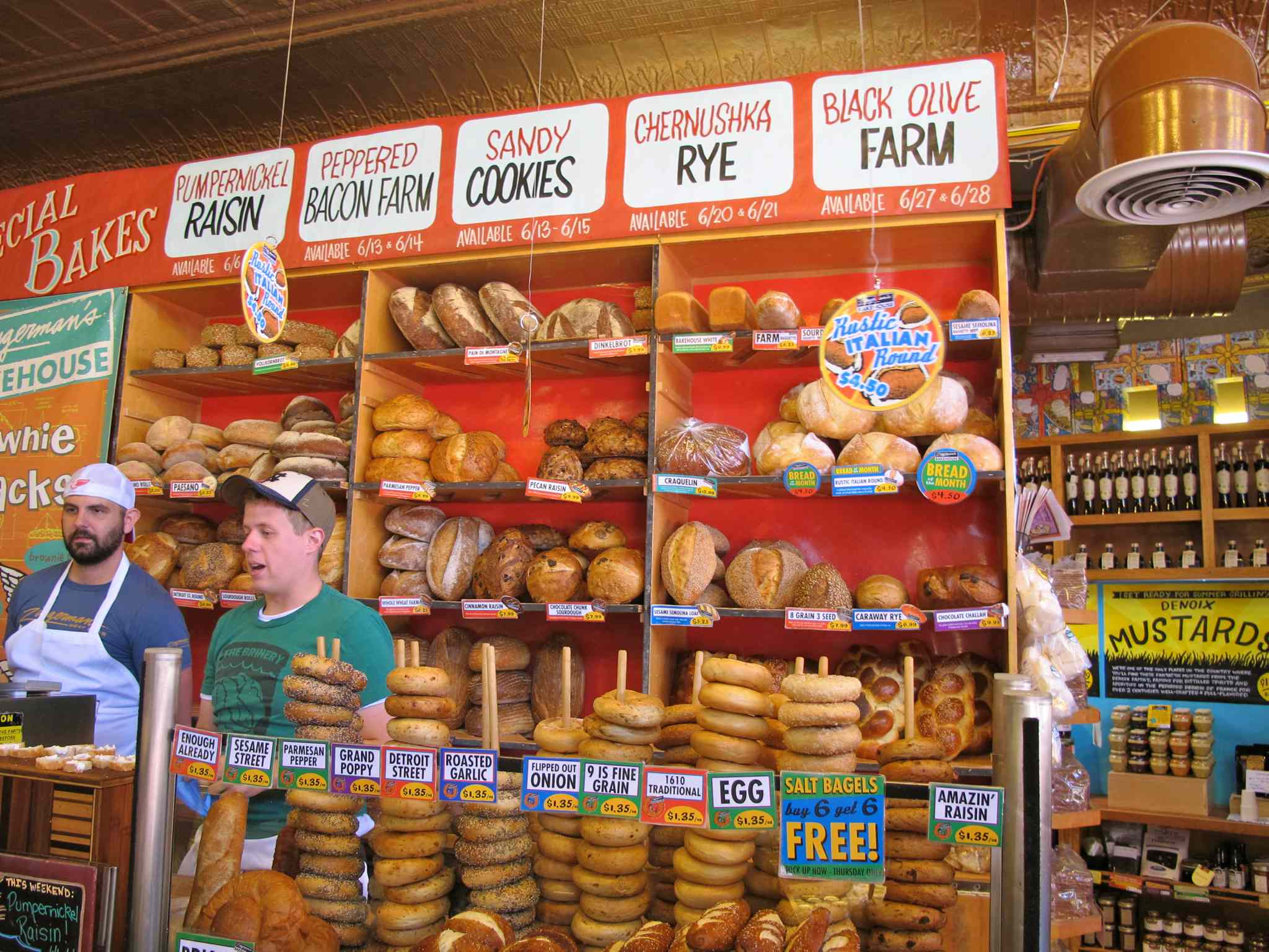 The bakery section of Zingerman's.