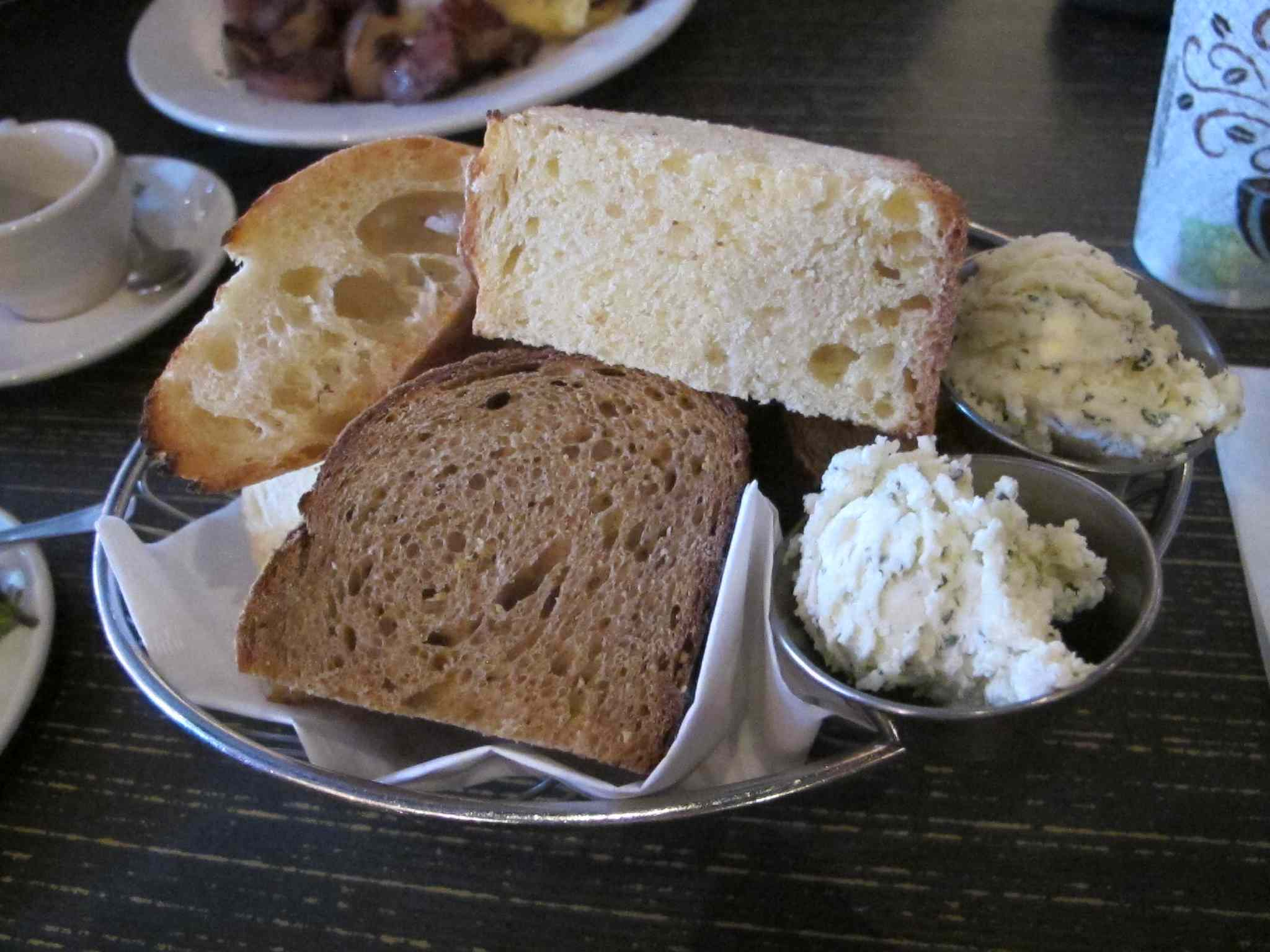 Breadbasket at Café Zola.