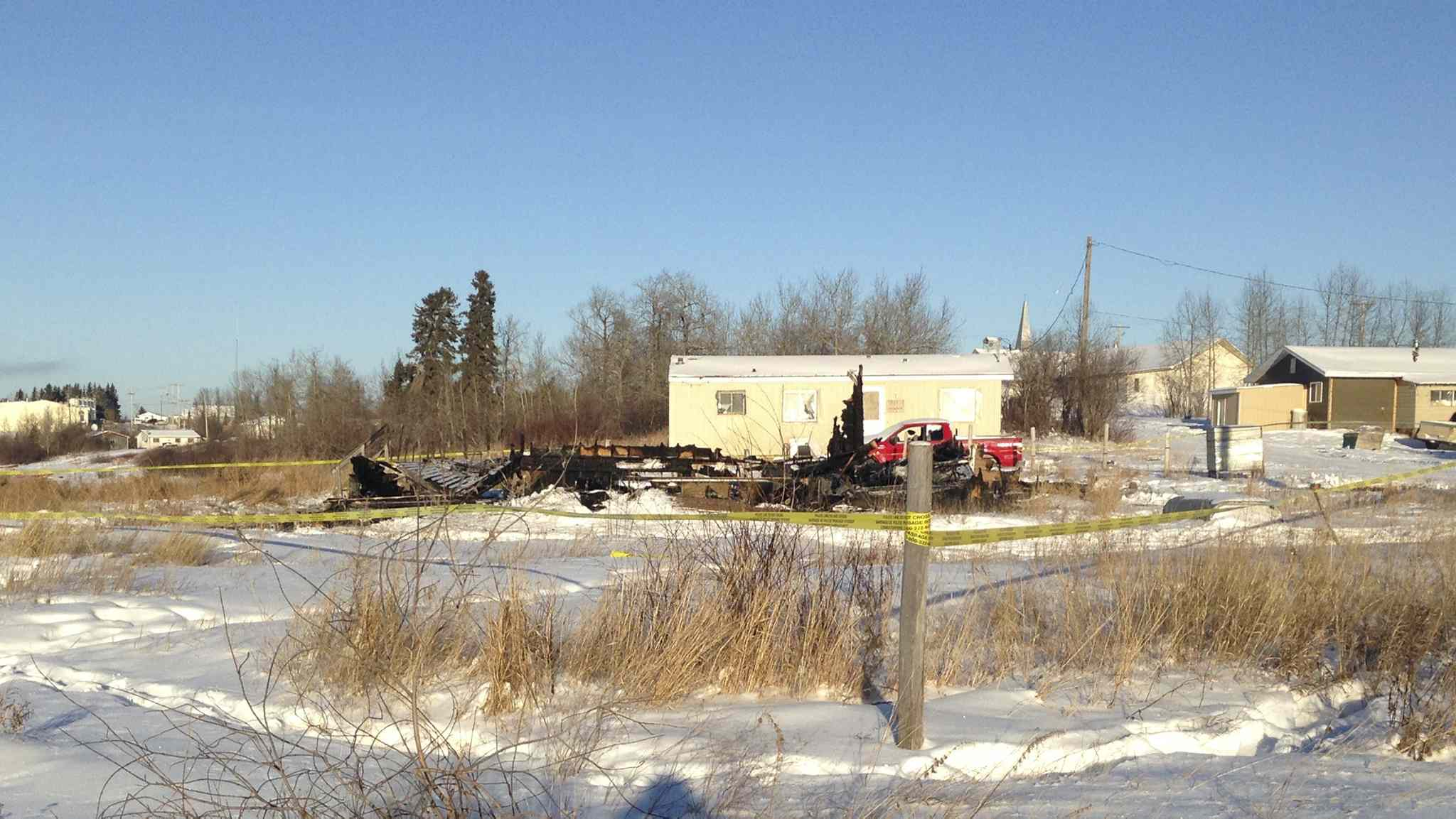 The bodies of three adults were discovered in the rubble of a home destroyed by fire early Tuesday morning (December 29, 2015) at Bunibonibee Cree Nation in northern Manitoba.