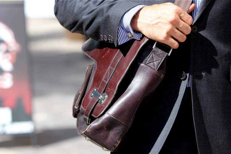 """""""The bag is from Danier, a gift from my two sisters."""" (Celine Bonneville / Winnipeg Free Press)"""