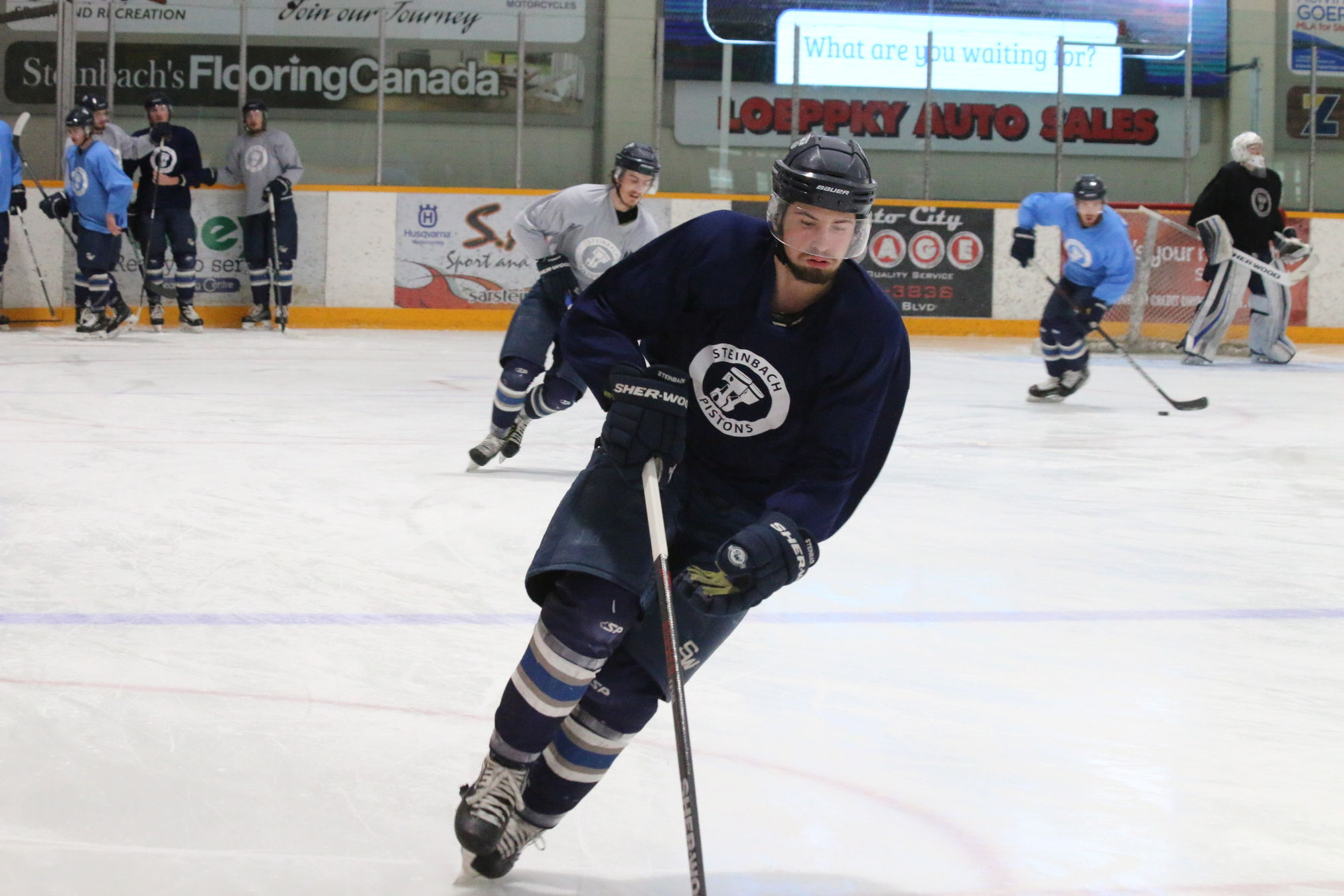 The Steinbach Pistons hold their final practice Thursday afternoon in Steinbach prior to their departure for the RBC Cup at Chilliwack, B.C.