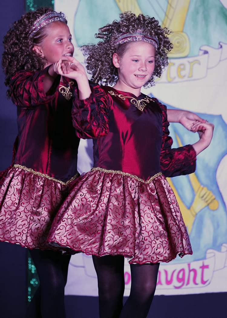 Young dancers perform in the Ireland-Irish pavilion.