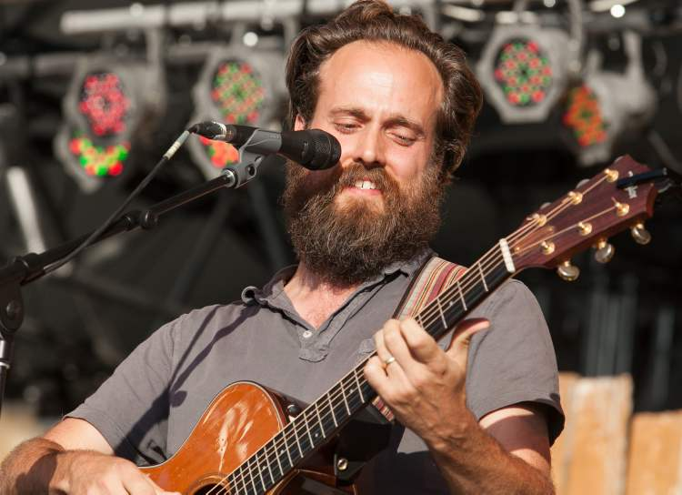Sam Beam, the American singer-songwriter known as Iron and Wine, performs Sunday evening at the Winnipeg Folk Festival Main Stage.  (Melissa Tait / Winnipeg Free Press)