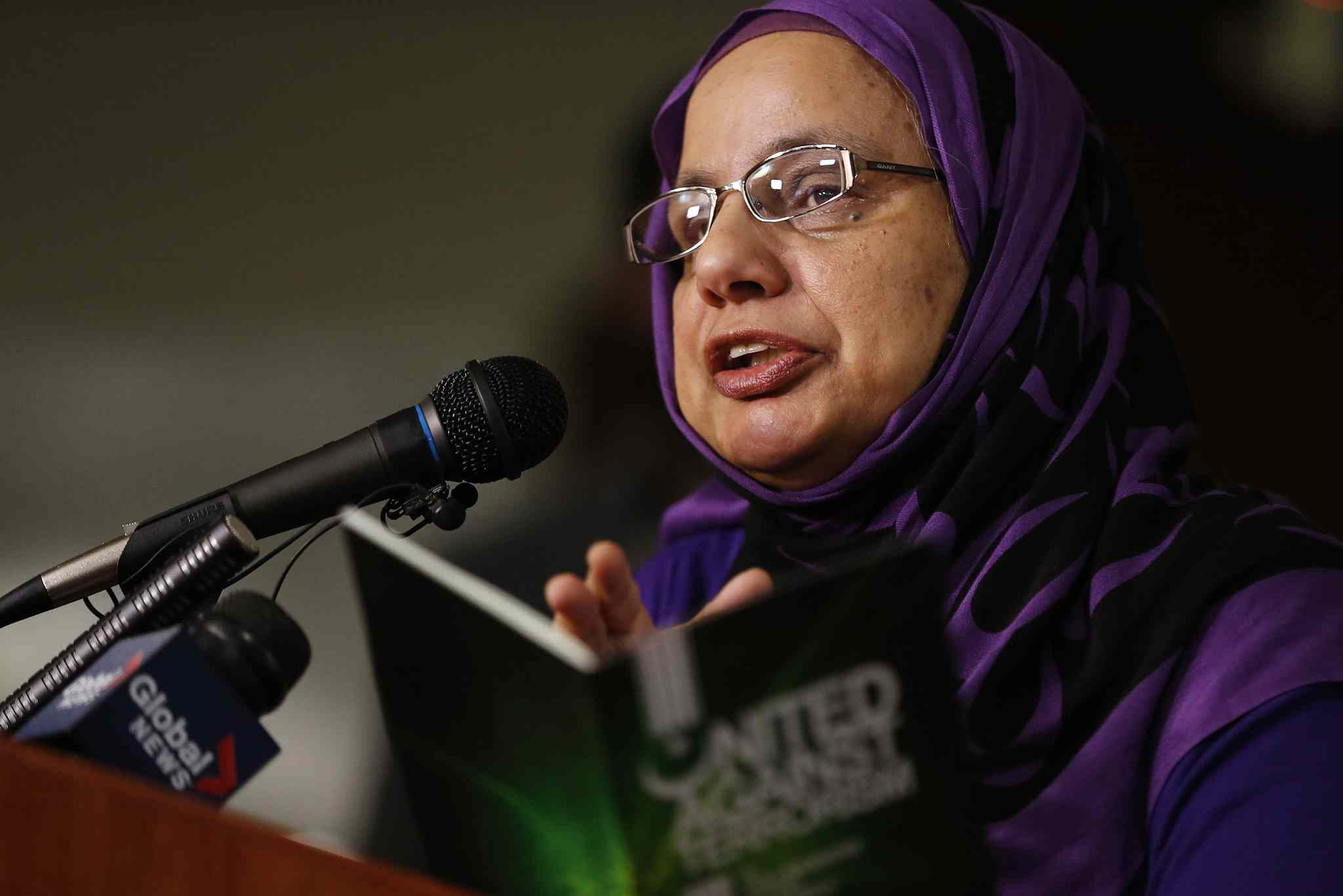 Shahina Siddiqui says some Muslim students are reluctant to speak openly about global politics.