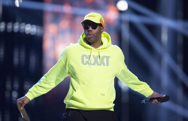 Kardinal Offishall performs at the Juno Awards in Vancouver on March, 25, 2018. Kardinal Offishall and employees at Universal Music Canada have banded together to help launch a new scholarship program supporting Black high school students in their post-secondary education. THE CANADIAN PRESS/Darryl Dyck