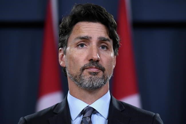 Prime Minister Justin Trudeau speaks during a press conference in Ottawa on Saturday, Jan. 11, 2020. Trudeau says Iran must take full responsibility for mistakenly shooting down a Ukrainian jetliner, killing all 176 civilians on board, including 57 Canadians. THE CANADIAN PRESS/Justin Tang