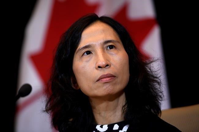 Chief Public Health Officer of Canada Theresa Tam participates in a press conference following the announcement by the Government of Ontario of the first presumptive confirmed case of a novel coronavirus in Canada, in Ottawa, on Sunday, Jan. 26, 2020. THE CANADIAN PRESS/Justin Tang