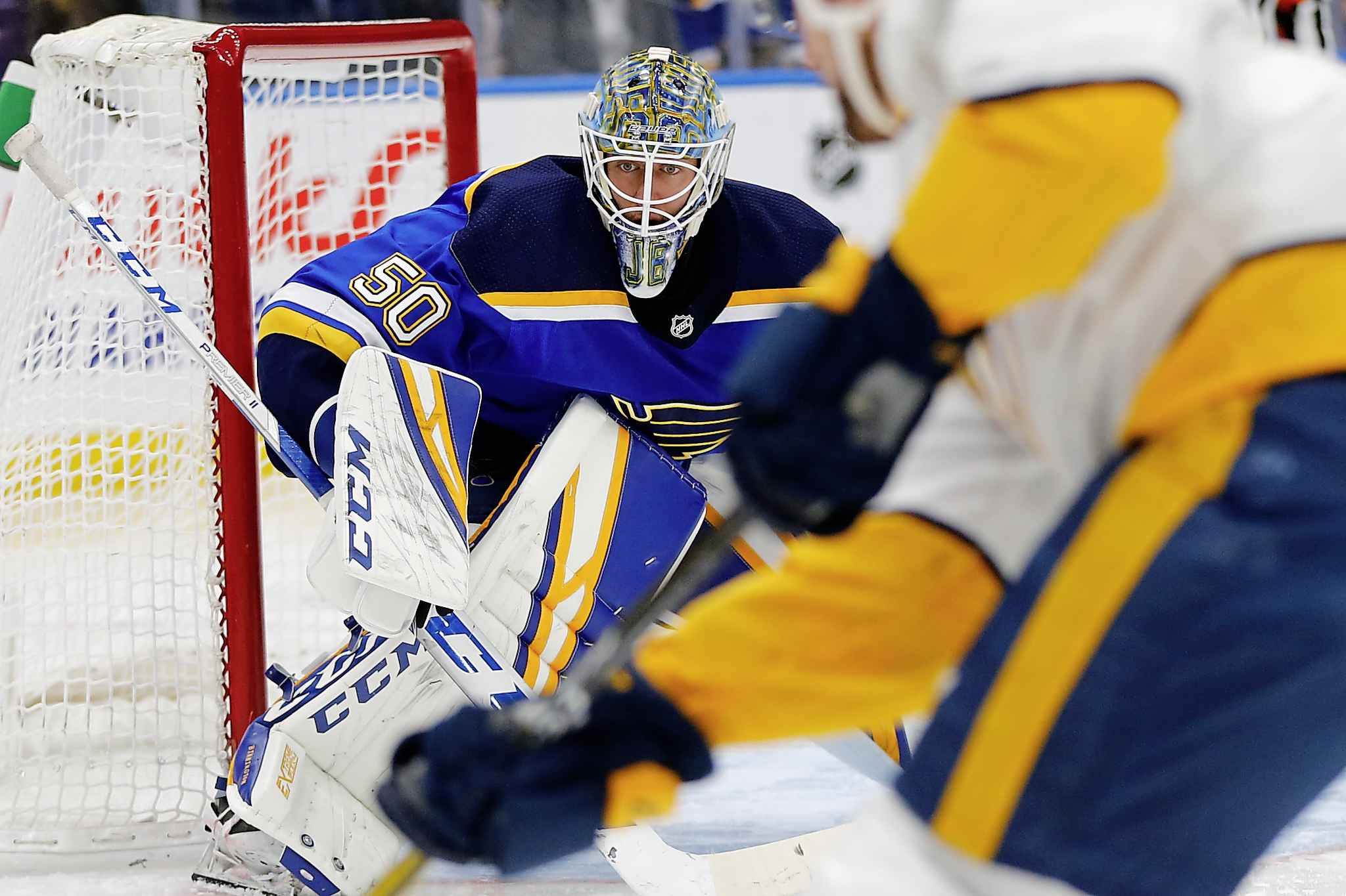 St. Louis Blues' goalie Jordan Binnington has been pivotal in getting his team back into the playoff picture.
