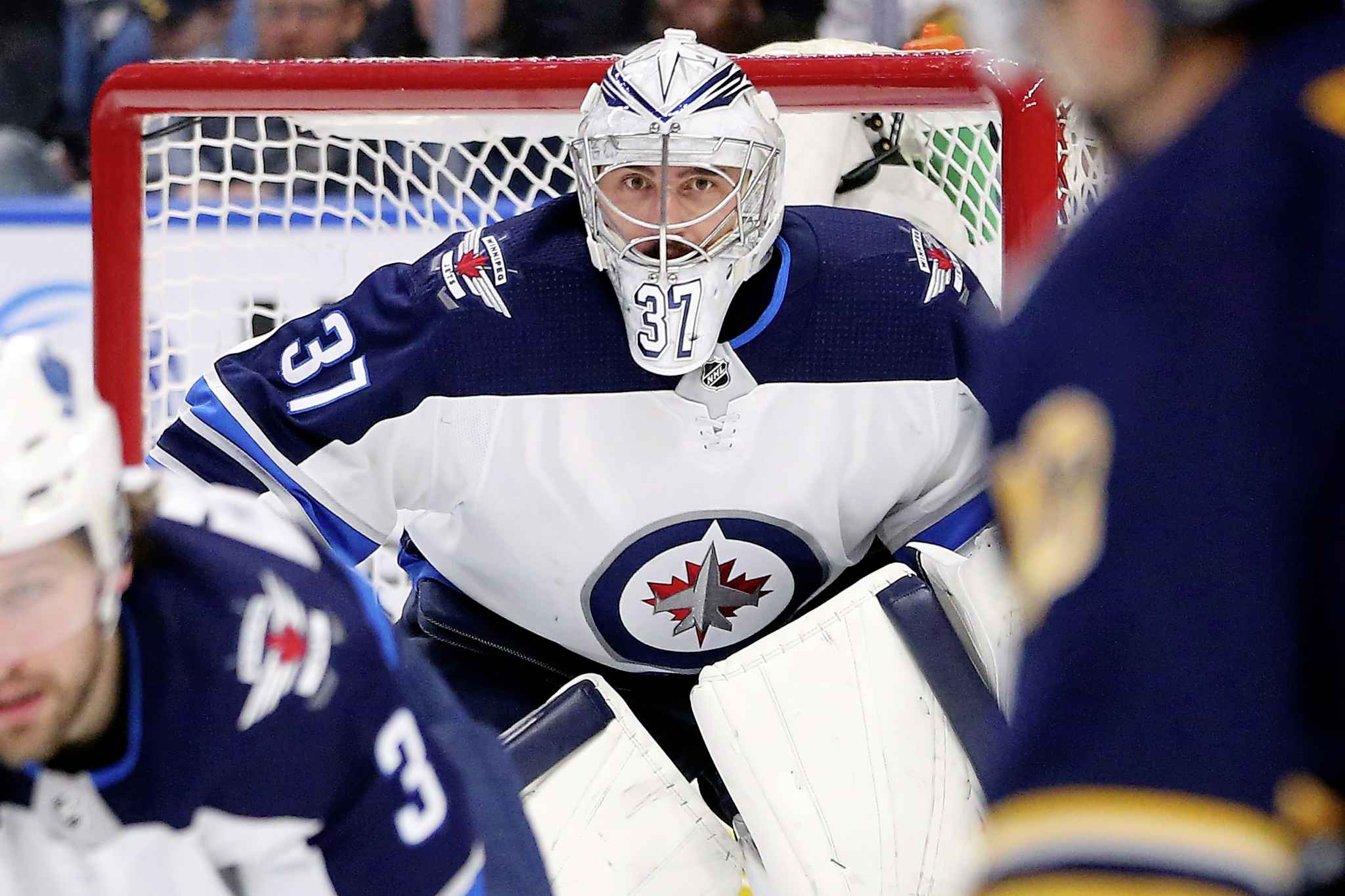 The Jets have had to rely on No. 1 goalie Connor Hellebuyck to save the day all too often.