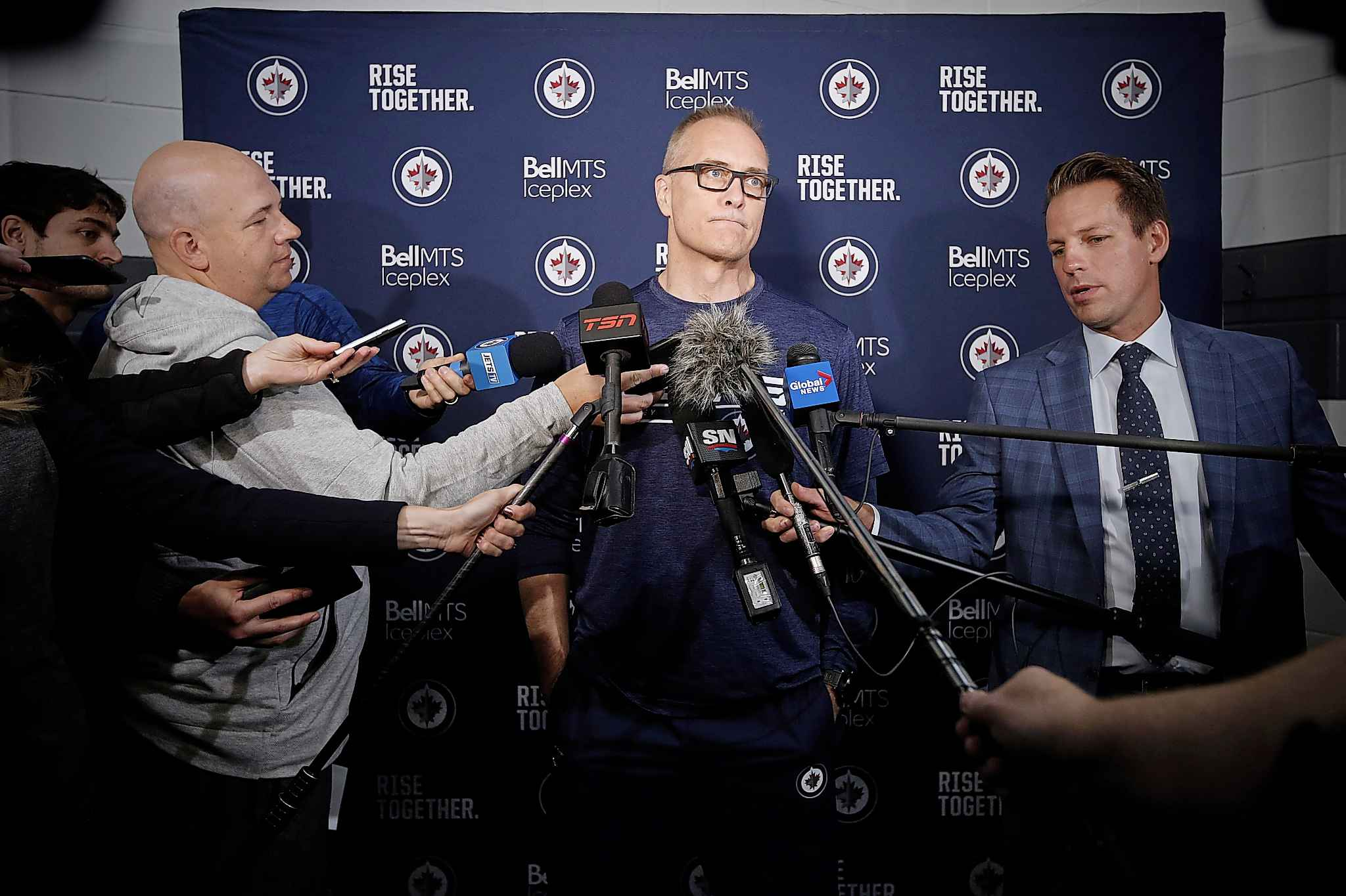 Winnipeg Jets head coach Paul Maurice will have to temper the expectations of his young team this season.