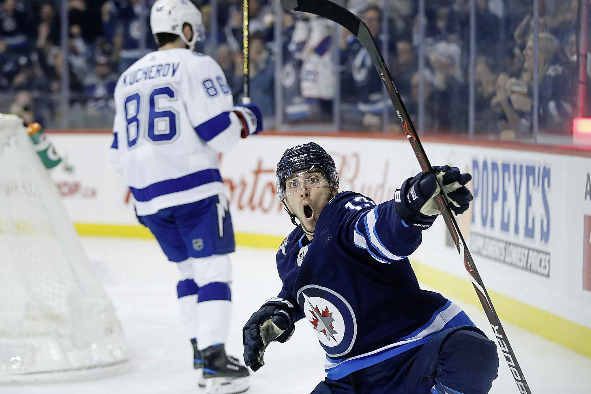 Only four Jets skaters have more goals this season than the career-high nine scored by Tanev. (John Woods / The Canadian Press)