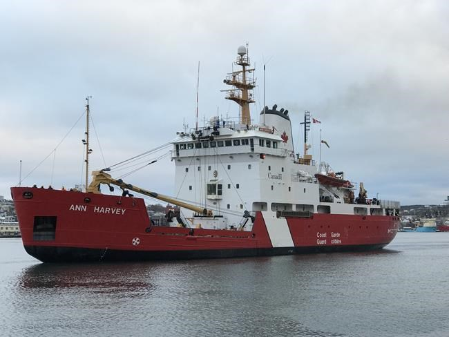 The CCGS Ann Harvey is seen in this undated handout photo. The search for a fisherman missing since Monday evening is continuing off the south coast of Newfoundland today after the bodies of three others from the lost vessel were recovered Tuesday.THE CANADIAN PRESS/HO, Canadian Coast Guard *MANDATORY CREDIT*