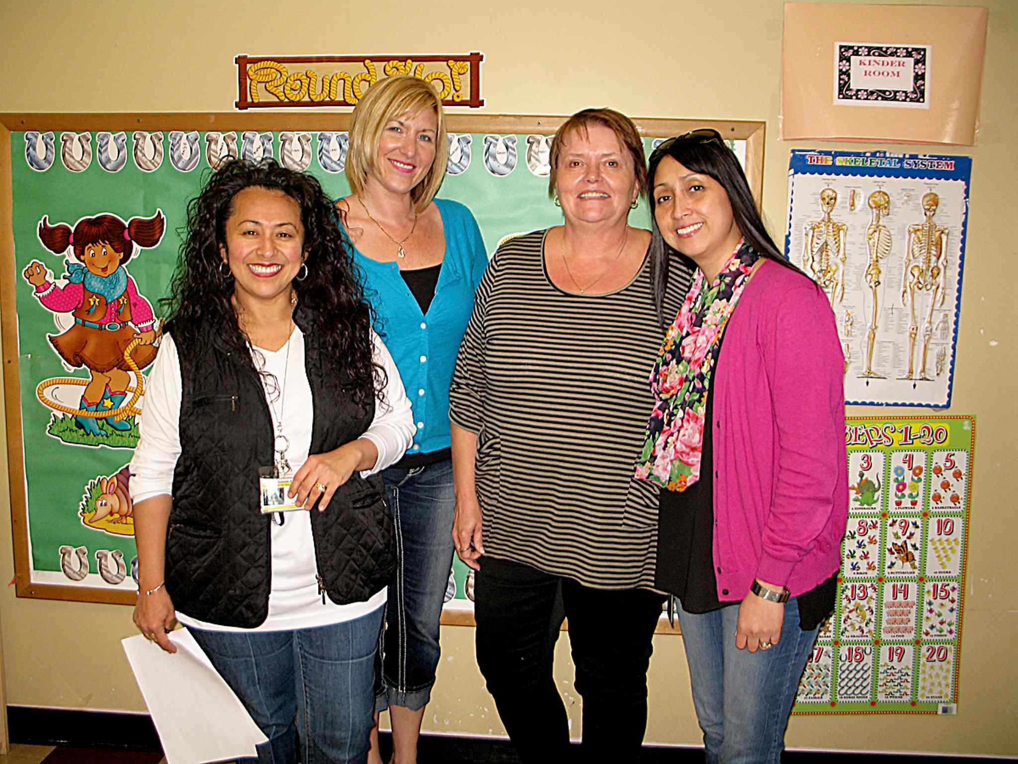 (From left) Sunny Mountain Day Care Centre program supervisor Chery Yaworski, board member Shelley Patterson, executive director Debra Page and assistant director Claire Ferrer.)