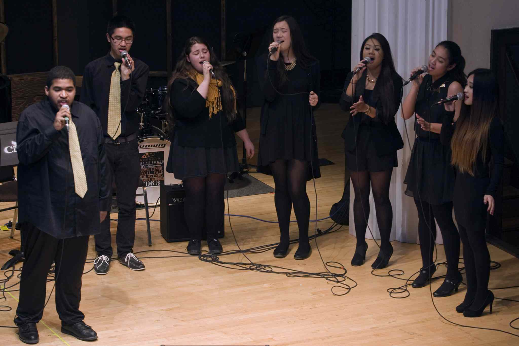 Members of Garden City Collegiate's Groove vocal jazz ensemble in action. Garden City Groove shares the stage with Denzal Sinclaire and the WJO on Feb. 9.