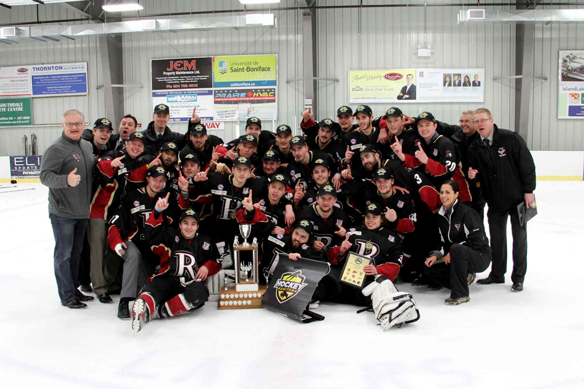 The Raiders Jr. Hockey Club captured the Manitoba Major Junior Hockey League championship with 4-1 series win over the St. Boniface Riels on Sat., April 12.