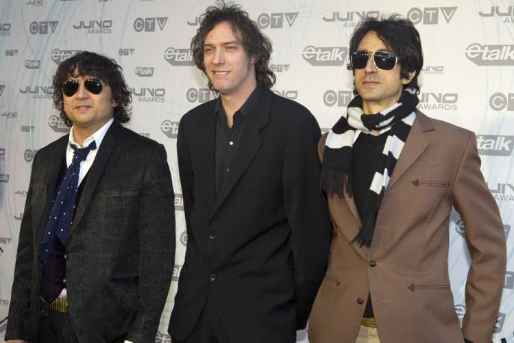 The Sadies arrive on the red carpet at the 2011 JUNO Awards in Toronto.