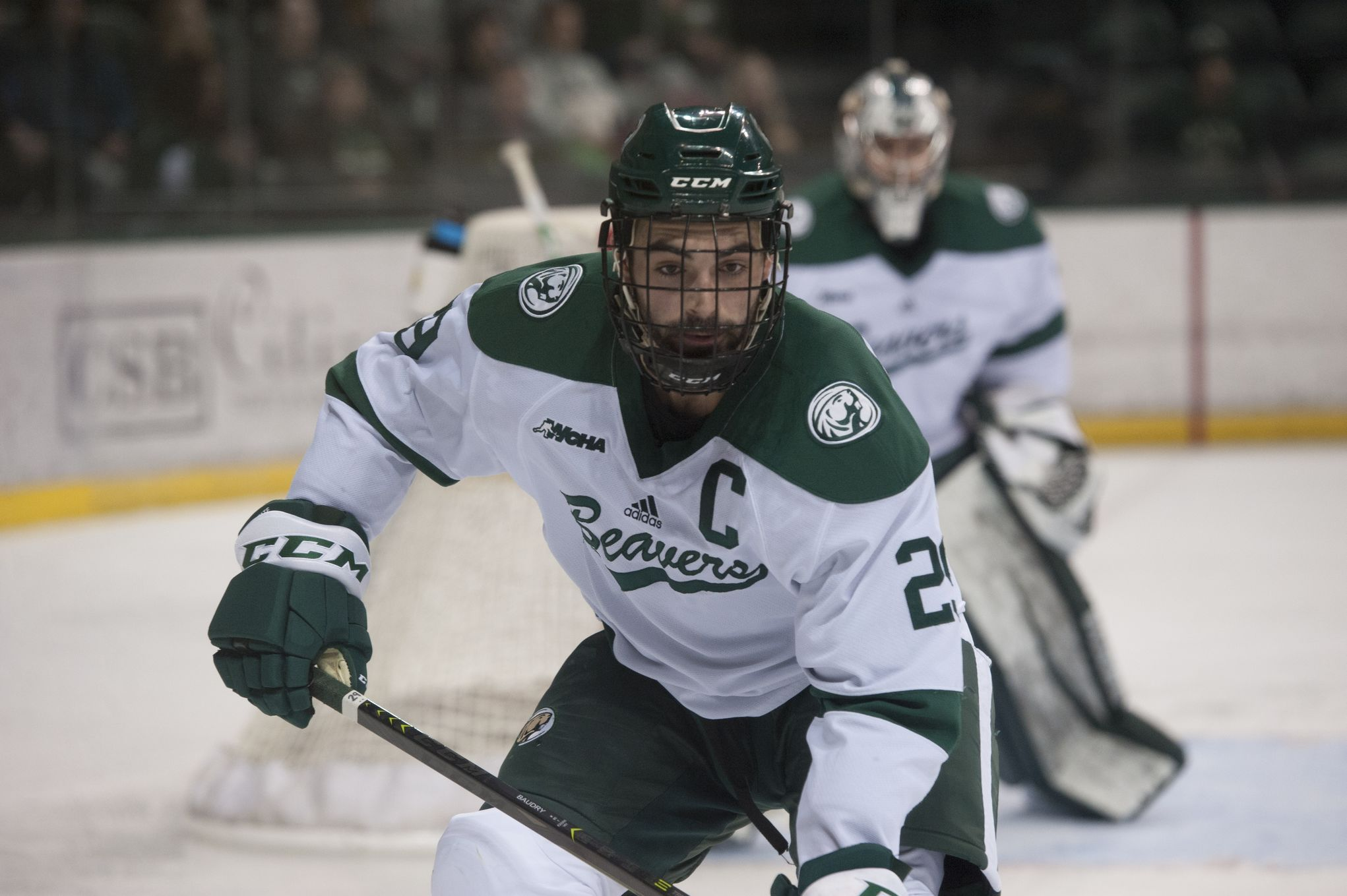La Broquerie's Justin Baudry, captain of the Bemidji State Beavers this past season, has signed a one-year contract with the AHL's Rochester Americans.