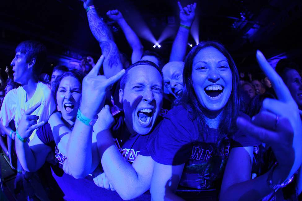 Fans watch Iron Maiden perform at the MTS Centre Tuesday, July 24, 2012.  (John Woods / Winnipeg Free Press)