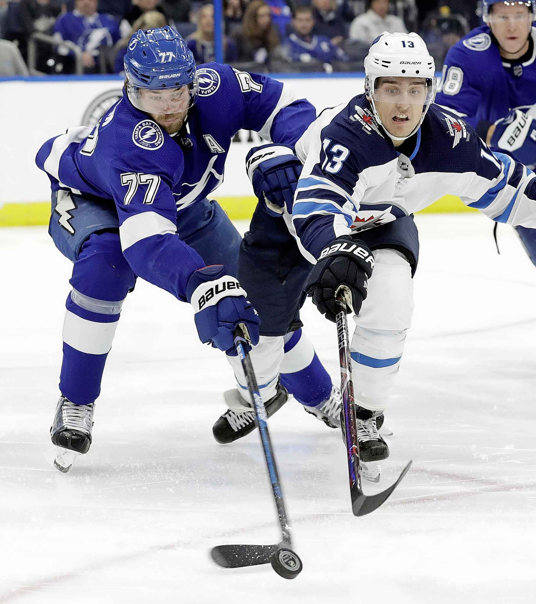 Winnipeg Jets left-winger Brandon Tanev will miss Game 1 due to injury, though he's not being rule out for the rest of the series. CHRIS O'MEARA / THE ASSOCIATED PRESS FILES