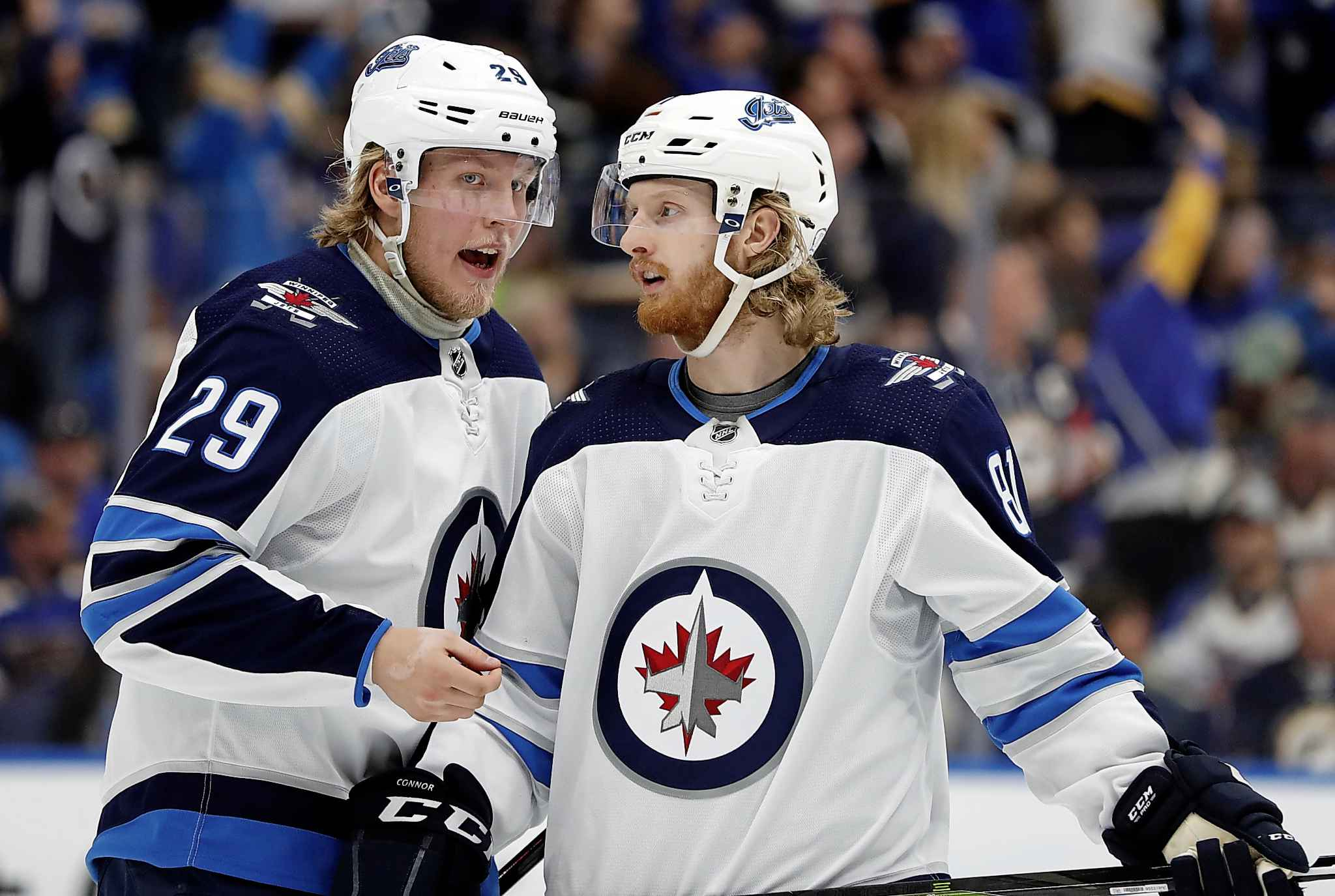 The Jets will need some new players on entry level contracts to perform like Patrik Laine (left) and Kyle Connor. (Jeff Roberson / Associated Press files)
