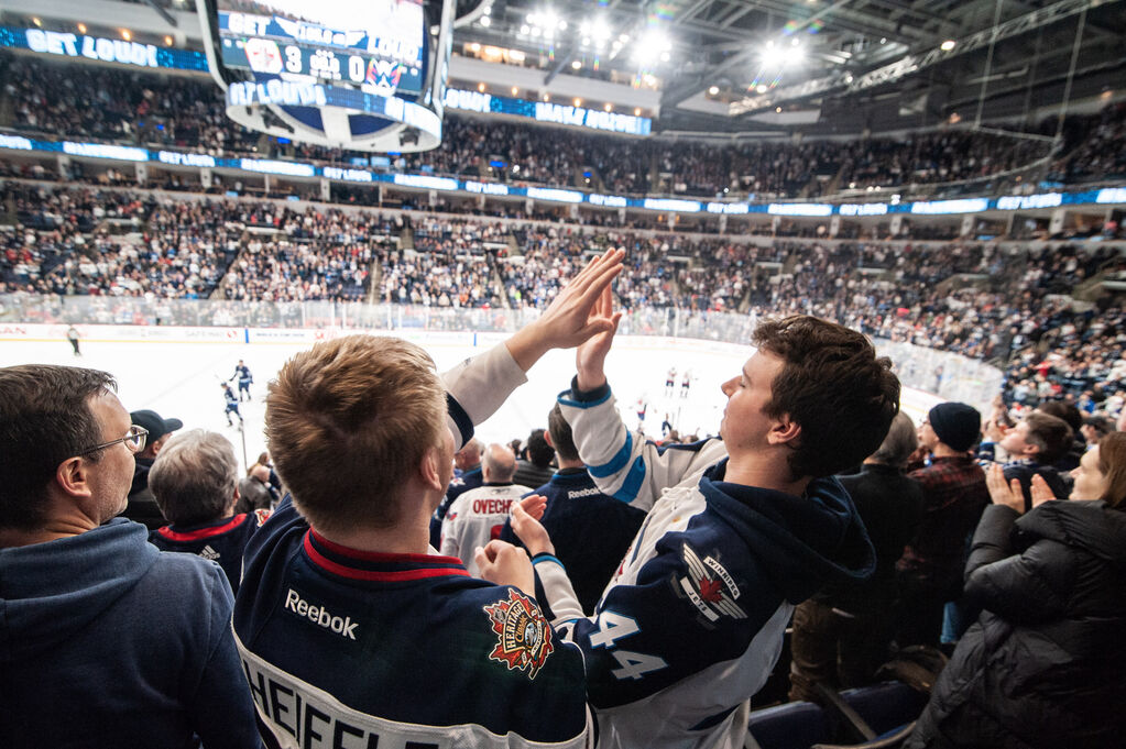 An email the organization sent out to season-ticket holders earlier this week stated True North hoped the province would allow some fans to attend games at the arena this season. (Mike Sudoma / Winnipeg Free Press files)